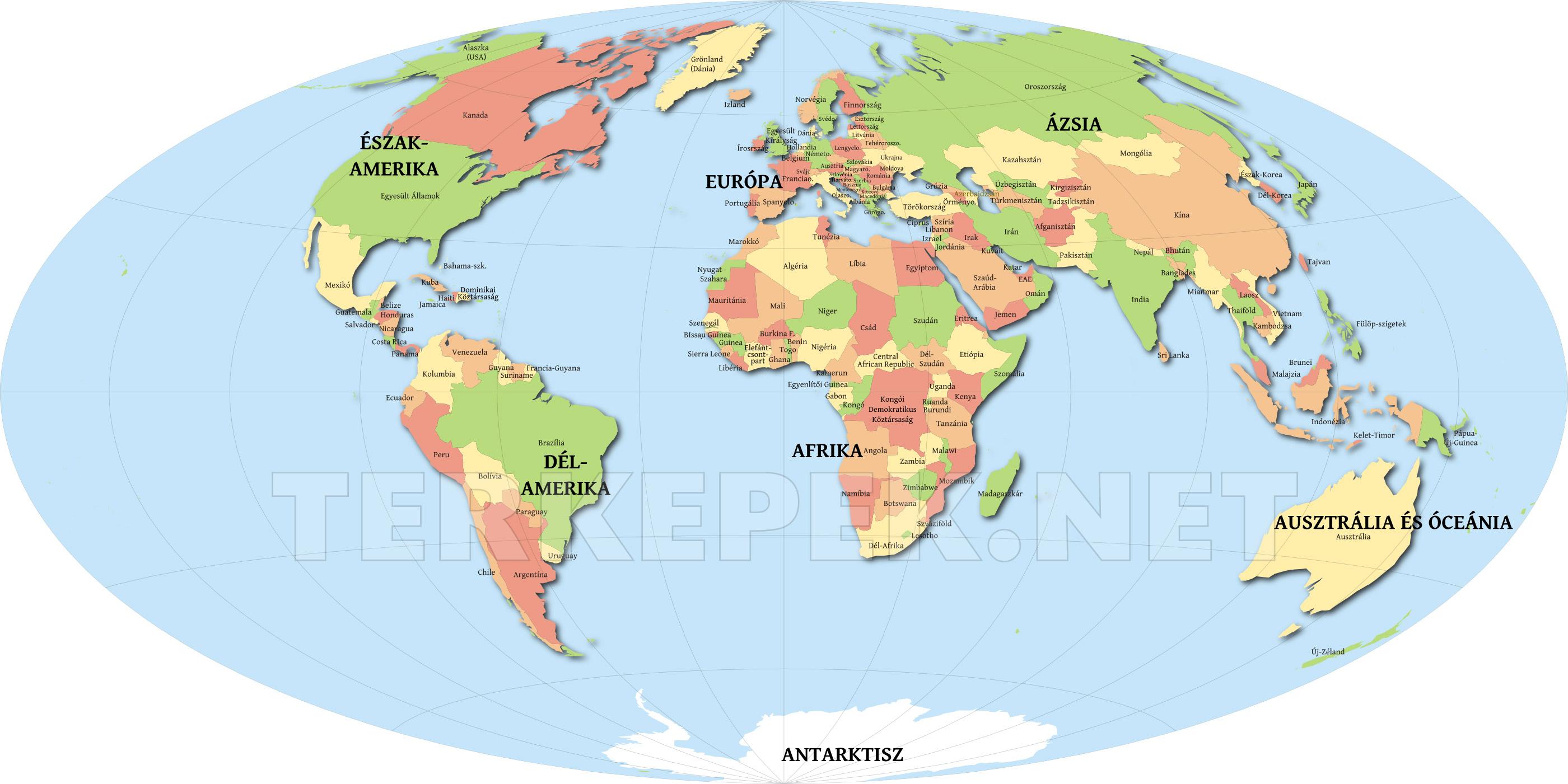 ázsia Országai Térkép