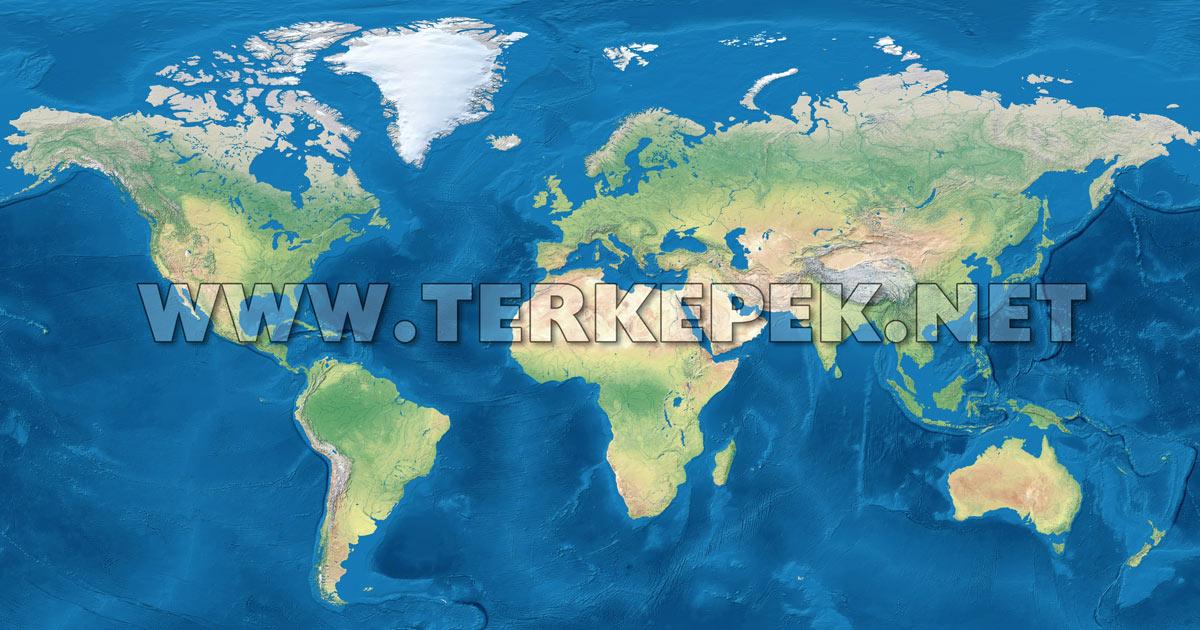 világ domborzati térkép Online Világatlasz világ domborzati térkép
